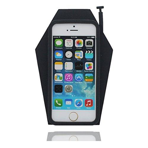 """Apple iPhone 5 (4.0"""") Coque, [téléphoneTPU durable et flexible] couverture étui pour iPhone 5G, SE, 5C, iPhone 5S Case, anti-chocs, des empreintes digitales, les égratignures noir"""