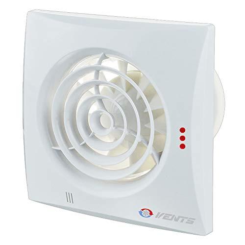 Vents VEN-100-QUIET Abluftventilator, geräuscharm, energieeffizient, für Badezimmer oder Küche, 100 mm Leitungen, Weiß - Küche Abluftventilator