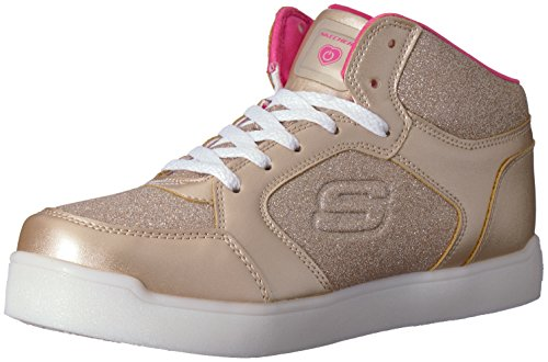 (Skechers Mädchen Energy Lights: E-Pro Glitter Glow Hohe Sneaker, Gold (Gold Gld), 38 EU)