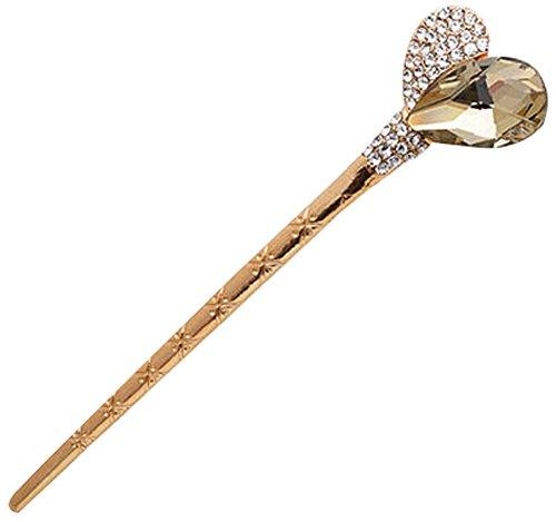 Cristal bâton épingle Ornements cheveux Barrette Chapeaux Champagne