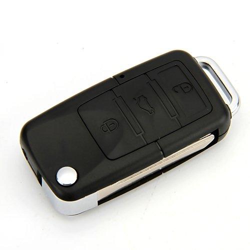 Cewaal Autoschlüssel mit Kamera, hohe Auflösung Digitale Lochkamera und Video/Voice Recorder Autoschlüssel Form Videokamera DVR Camcorder Rekord