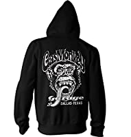 Officially Licensed Merchandise GMG - Dallas Texas Zipped Hoodie (Black), X-Large