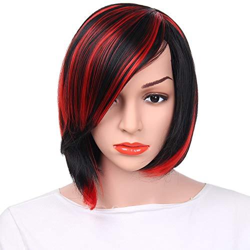 Perücke Damen BOBO Kopf kurze glatte Haare Perücke -