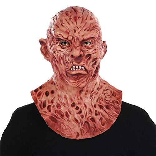 Zombie Vollkopf Latex Maske Walking Dead Halloween Kostüm Party Gruselige Maske Einheitsgröße für die meisten Erwachsenen ()
