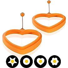 Amazy Silikon Spiegeleiform (2er Set) – Die lustige Frühstücksidee bringt Ihre Spiegeleier und Pfannkuchen in die perfekte Form (Herz)