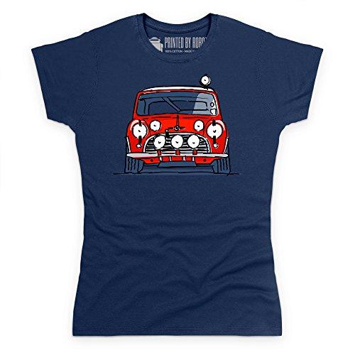 Classic British Red Rally Car S Model T-Shirt, Damen Dunkelblau