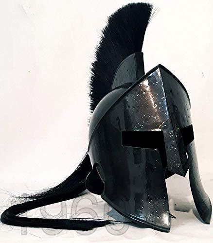 Calvin 300 King Leonidas Spartan Helm Film Mittelgroßer Stahlhelm aus massivem Stahl | Mittelalterlicher Helm | Maske Partyhelm| -
