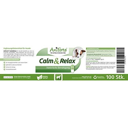 AniForte Calm & Relax Anti-Angst-Kapseln 100 Stück – Naturprodukt für Hunde - 3