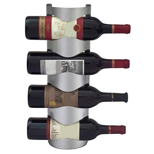 SUPERLOVE Vertikale Wandbehang Weinregal,Edelstahl Glas Halter Kreative Hängende Weinglas Lagerung...