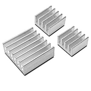 Addicore Raspberry Pi Heatsink Set (Set of 3 Aluminum Heat Sinks)