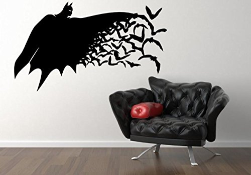 Batman - Grande de Vinilo Adhesivo de Pared, negro, Medium: 40cm x 70cm / 16