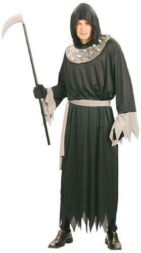 Boland 87201 - Erwachsenenkostüm Sensenmann, Toga mit Kapuze und Gürtel, Gröߟe M / L, (Kostüme Toga Männer)