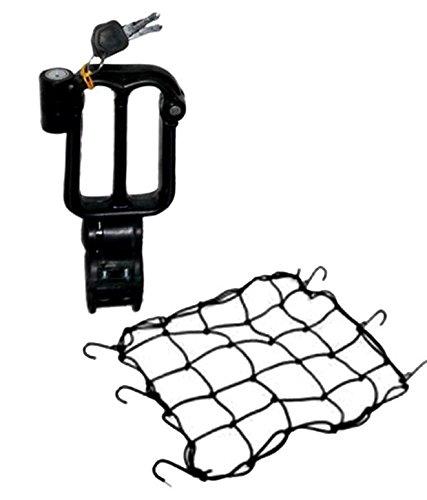 EASY4BUY® Combo of Bungee Net and Helmet Lock