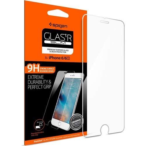 Spigen Protection écran iPhone 6s/6, en Verre Trempé, Easy-Install Kit** [Extreme Résistant aux rayures] **Ultra Clair** protection verre trempé iPhone 6s/6, Protection écran iPhone 6 SGP11588