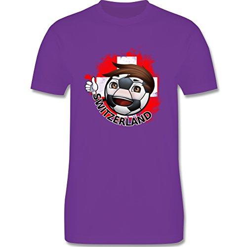 EM 2016 - Frankreich - Fußballjunge Schweiz - Herren Premium T-Shirt Lila