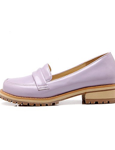 ZQ Scarpe Donna Finta pelle Basso Punta arrotondata Mocassini Ufficio e lavoro/Formale/Casual Nero/Verde/Viola/Beige , purple-us10.5 / eu42 / uk8.5 / cn43 , purple-us10.5 / eu42 / uk8.5 / cn43 black-us6.5-7 / eu37 / uk4.5-5 / cn37