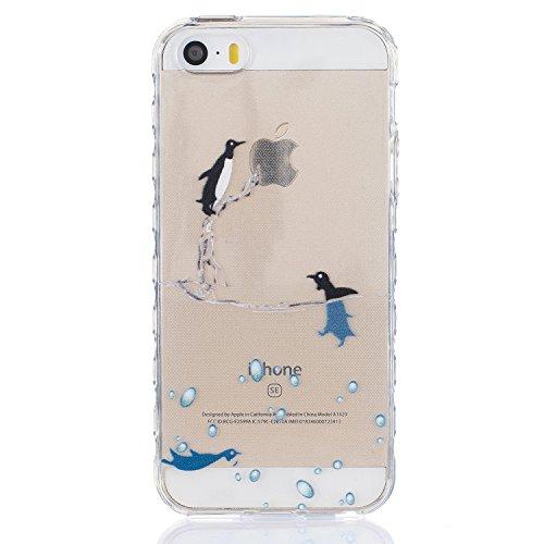 Pour Apple iPhone 5 5G 5S / iPhone SE (4 Pouces) Coque ZeWoo® Étui en Silicone TPU Housse Protecteur - BF083 / Des Marguerites BF076 / Des Dauphins
