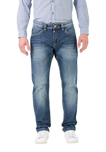 FabianTZ 5-pocket pants-Pantalones Hombre Blau (total night blue 3827) W36/L34 Timezone LmYysknZ