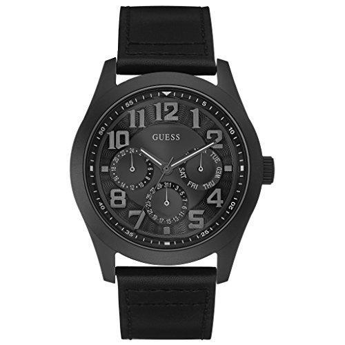 Guess Herren-Armbanduhr Analog Quarz Leder W0597G3