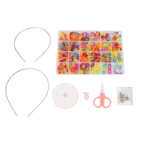 Tnfeeon Snap Pop Perlen Mädchen Spielzeug Kinder Schmuck Machen Kit Halskette Armband Ring Kreativität DIY Set pädagogisches Lernen intelligente Kunst Handwerk Spielzeug Geschenk für Kindertag (9 #) (Pop-art-ringe-handwerk)