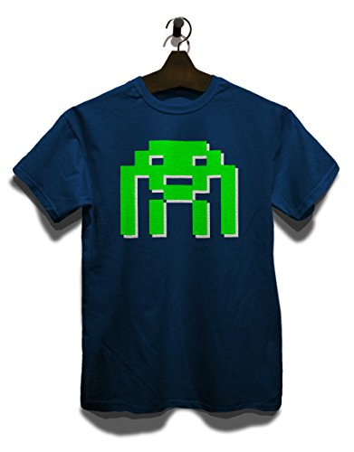 Space Invader T-Shirt Navy Blau