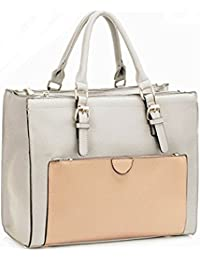 aba516934 LeahWard Women's Large Size Handbags Quality Faux Leather Tote Shoulder  Bags A4 School LW366