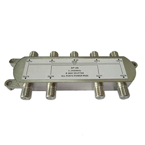 SP-08 8-Way Signal Satellite Splitter TV Antenne RF Coaxial Câble Splitter WholesaleHot Nouvelle Arrivée