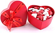 Zoroy Luxury Chocolate Valentines Day Love Gift Special Heart Box With 27 Milk Chocolate Hearts