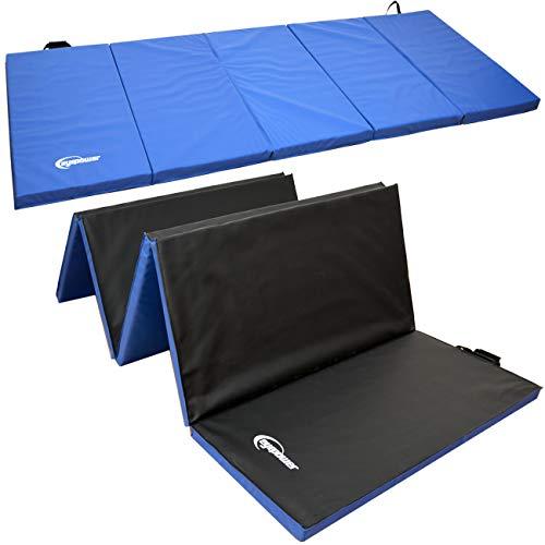 Eyepower XXL Gymnastikmatte 300x120x5 Turnmatte Sportmatte Weichbodenmatte Blau