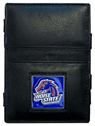 NCAA Boise State Broncos Leather Jacob's Ladder Wallet