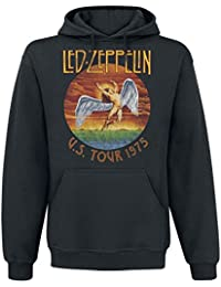 Led Zeppelin USA Tour 1975 Sweat à capuche noir