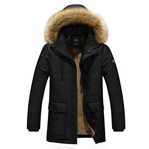 Robo cappotto con cappuccio da uomo parka cappotti impermeabile zip up con pelliccia invernale,it s-2xl