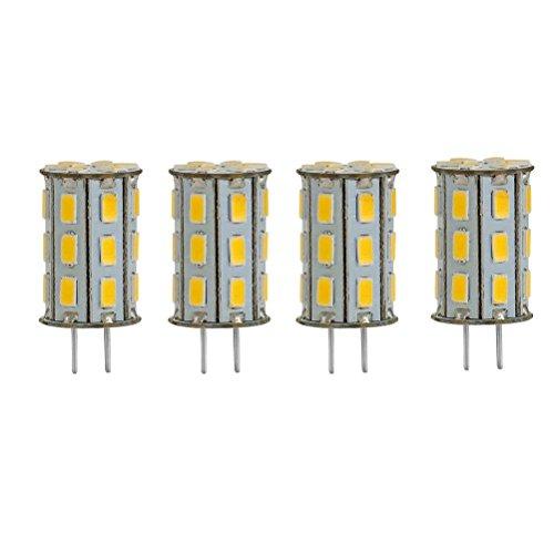 GY6.35 LED 5W als Ersatz für 35W Halogen Lampen ZSZT 12V Warmweiß 3000K für Schreibtischlampe, Kristall Scheinwerfer-Birne ( 4 Packs )