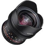 Rokinon 16-16mm f/2.6-22 Prime Fixed T2.6 Full Frame Cine Wide Angle Lens for Sony E-Mount, Black (FFDS16M-NEX)