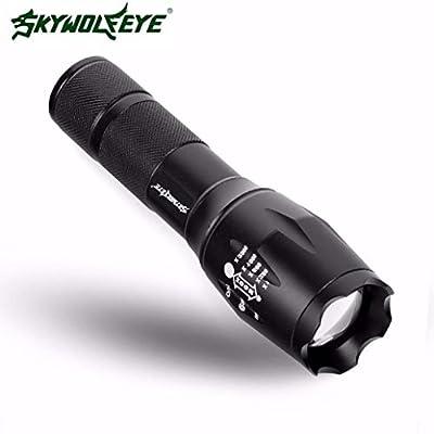 Clode® 4000 Lumen CREE XML T6 LED Superhelles Militärgrad Zoomable Taschenlampe Lampe 5 Modi (Schwarz)