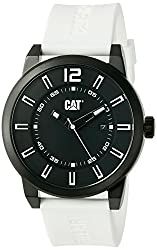 CAT WATCHES Men's 'Hardware' Quartz Stainless Steel and Silicone Automatic, Color:White (Model: NK16120122)