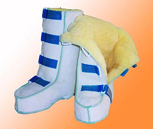 Orgaterm Reha-Schuhe mit Schaf-Fell und Klett 41/42