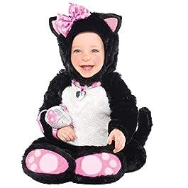 Amscan – Itty Bitty Kitty Costume da gattina per bambine, 12-18 mesi