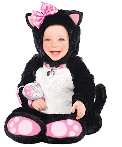 Amscan 997543 Kinderkostüm Kätzchen, weiß/schwarz/rosa, 12-18 Monate (Monate 12-18 Dress Halloween Fancy)