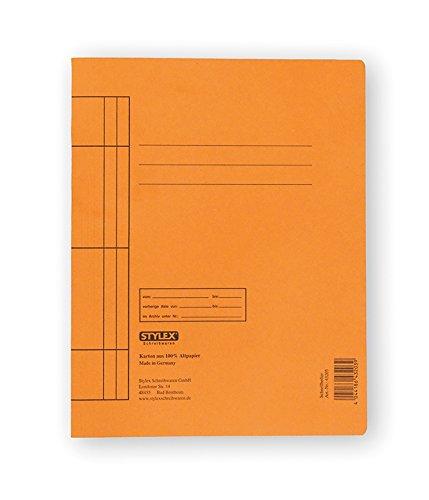 STYLEX STYLEX-43203 Schnellhefter, Manila-Karton, orange