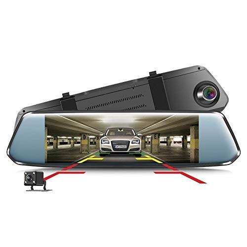 YANKAN Dual-Objektiv Hd 7-Zoll-RüCkspiegel-Antriebsrecorder Bild Umkehren, Looping Video, Bewegungserkennung, Schwerkraftabfragung Hinten View Video-kamera