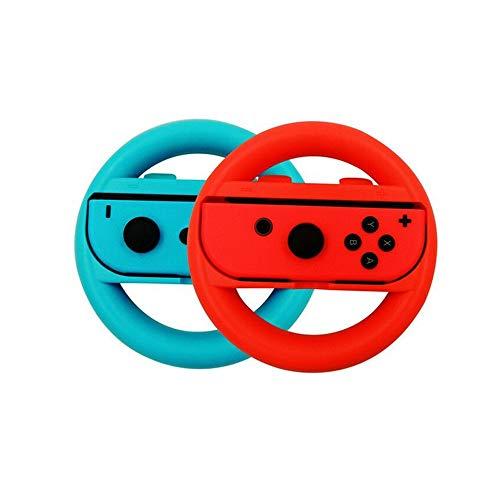Nintendo Switch,Mario Kart Switch Wii Joy-Con Regolatore di Ruote da Corsa Manopole per Nintendo Design Ergonomico Interruttore Mario Kart (blu e rosso)