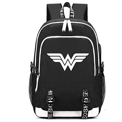 Jugendliche Kostüm Wonder Woman Für - SJYMKYC Frage Mich, Frauen Rucksack Cosplay Kostüm Oxford Tuch Schule Schulter Daypack Tasche Für Erwachsene & Jugendliche Im Freien Requisiten (schwarz)
