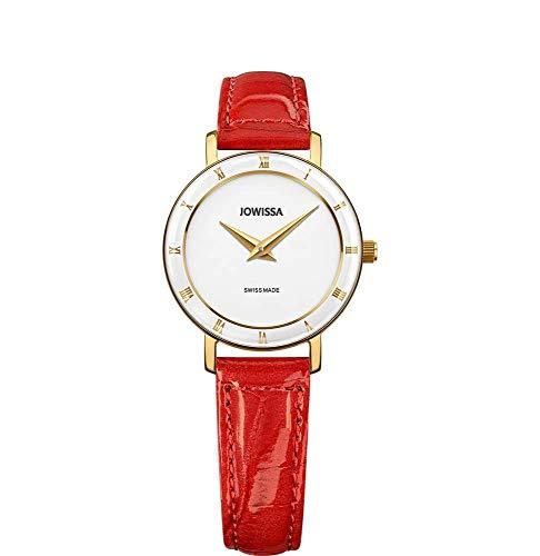 Jowissa Roma Swiss J2.282.S - Reloj de Pulsera para Mujer, Color Blanco, Rojo y Dorado