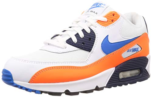 90 Essential Leichtathletikschuhe, Mehrfarbig (White/Photo Blue/Total Orange 104), 45 EU ()