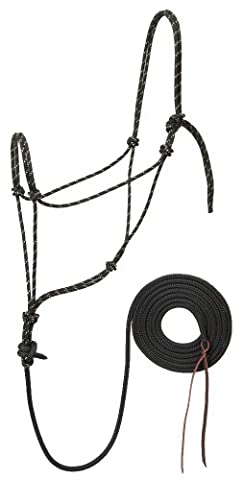 Silvertip Trailblazer Halter with 12-Feet Lead, Black with Tan Flecks,