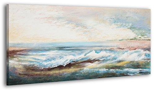 100-LABOR-A-MANO-certificado-130×70-cm-Paisaje-marina-El-cuadro-dibujado-con-pinturas-acrlicas-cuadros-sobre-el-lienzo-con-bastidor-de-madera-cuadro-dibujado-a-mano-montaje-cmodo-sobre-la-pared-Arte-c