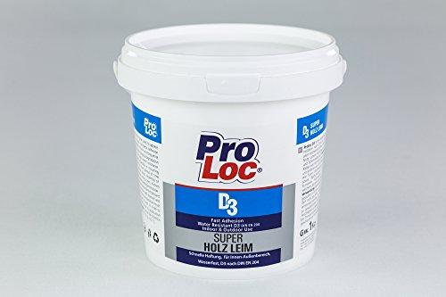 1 kg Super Holzleim wasserfest DIN EN 204 Holzkleber schnelle Haftung ProLoc D3