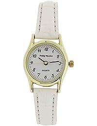 Philip Mercier Ladies Goldtone Bezel White PU Croc Style Strap Watch SML70A