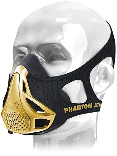 Phantom Athletics Trainingsmaske | Gold Edition | Auf 300 Stück Limitiert | Atemwiderstands Training für mehr Leistung (M: von 70Kg - 100Kg)